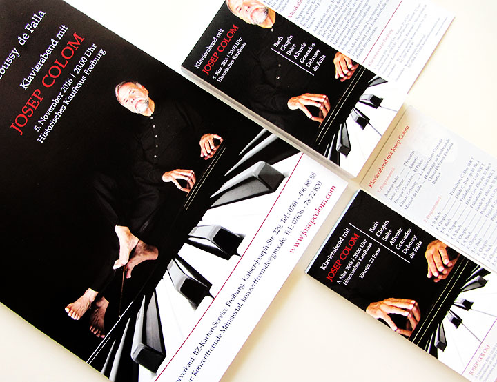 web-und grafikdesign katrin birke, bollschweil/ freiburg, referenz printprodukte: plakat, flyer, eintrittskarte für konzertfreunde münstertal