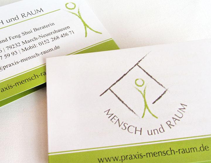 web-und grafikdesign katrin birke, bollschweil/ freiburg, referenz logogestaltung und visitenkarte für praxis mensch und raum