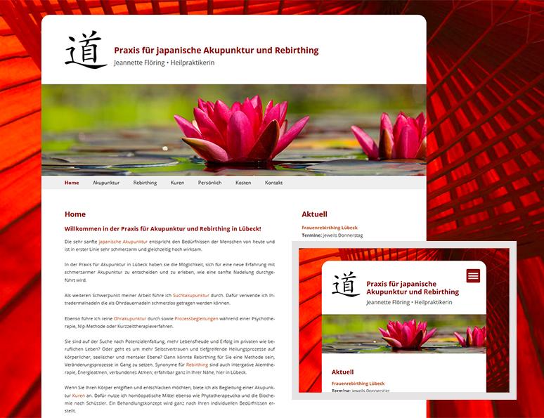 web-und grafikdesign katrin birke, bollschweil/ freiburg, referenz website-erstellung: praxis für  japanische akupunktur und rebirthing