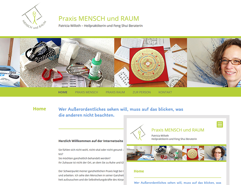 web-und grafikdesign katrin birke, bollschweil/ freiburg, referenz website-erstellung: praxis mensch und raum