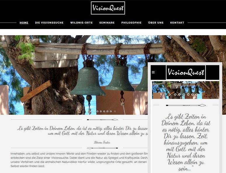 web-und grafikdesign katrin birke, bollschweil/ freiburg, referenz website-erstellung: visionquest