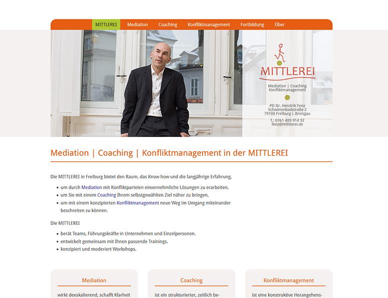 webdesign und grafik birke | glaser, bollschweil bei freiburg, referenz website-erstellung: mittlerei hendrik fenz