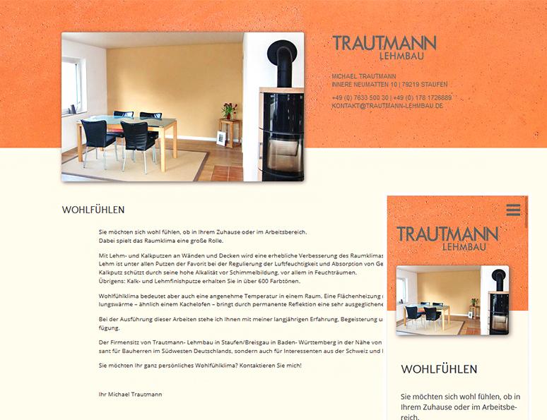 web-und grafikdesign birke | glaser, bollschweil bei freiburg, referenz website-erstellung: trautmann lehmbau staufen