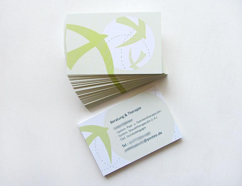 web-und grafikdesign birke | glaser, bollschweil bei freiburg, referenz printprodukt: visitenkarte beratung und therapie
