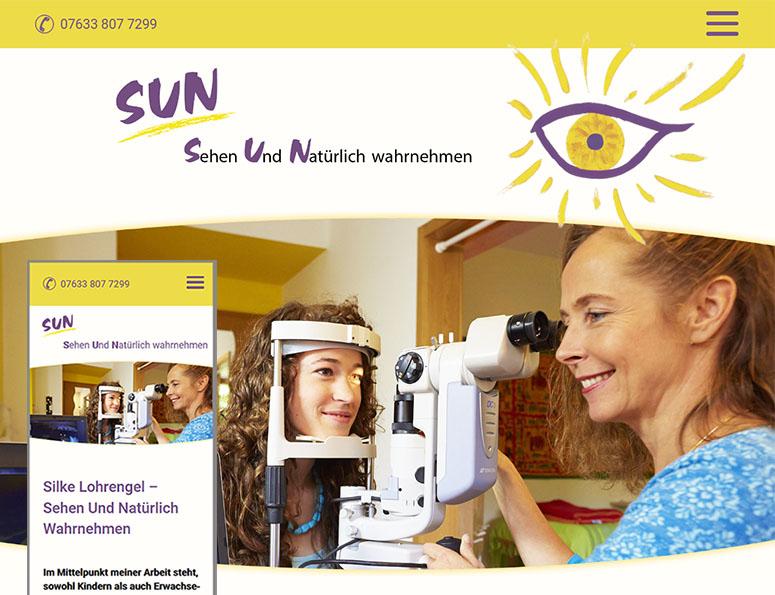 webdesign und grafik birke | glaser, bollschweil bei freiburg, referenz website-erstellung: SUN - Sehen Und Natürlich Wahrnehmen | Silke Lohrengel | Bollschweil